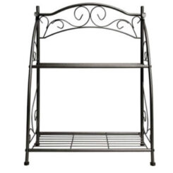 plant stand 2 tier metal