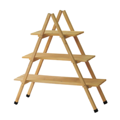 A-Frame Timber Plant Stand Natural - 3 Tier